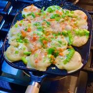 Making Baked Balls Pancake Griddle Nonstick Stuffed Pancake Pan Aperture1.3 Inch Tokoyaki Pan for Family 12 Holes