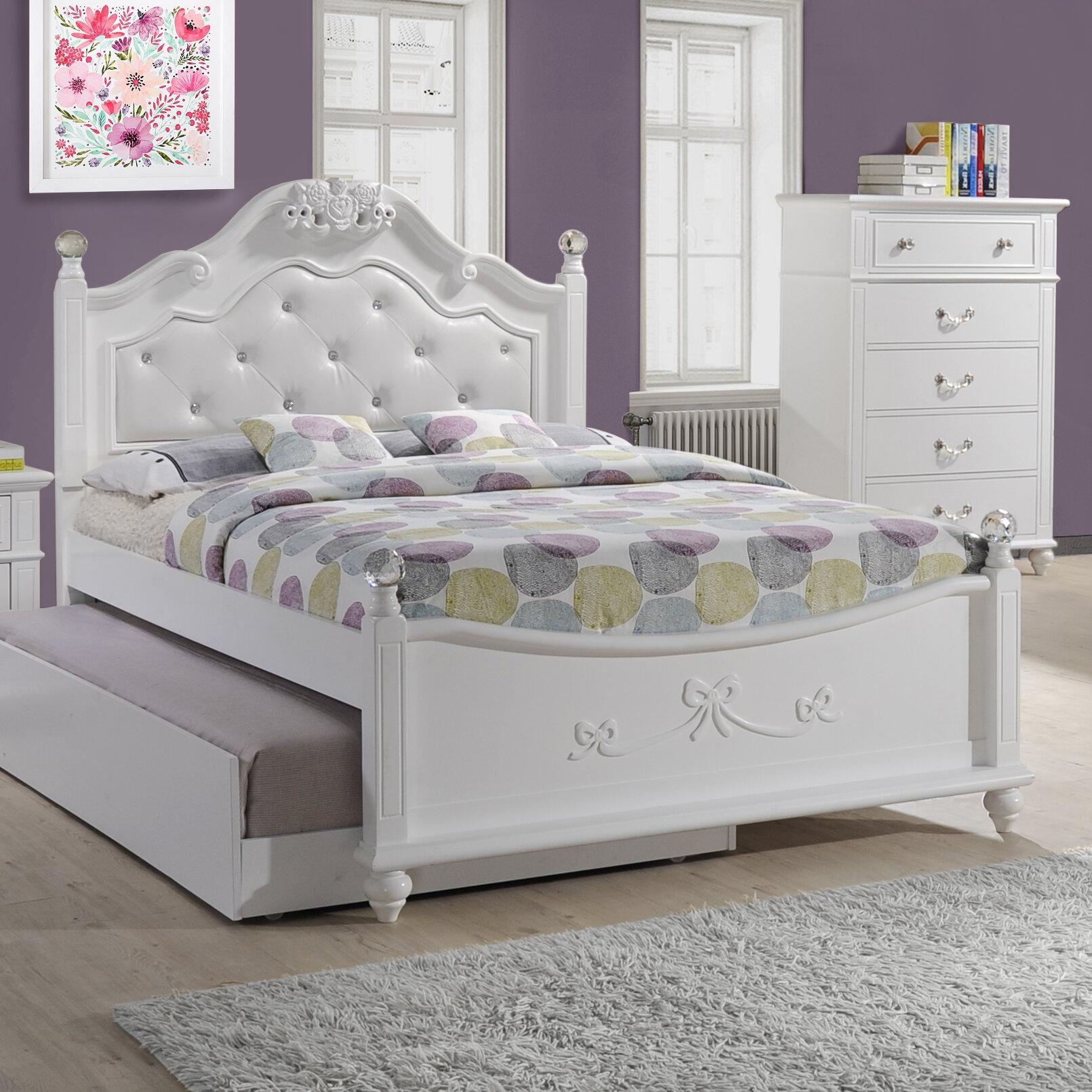 Viv Rae Lydia Tufted Upholstered Storage Platform Bed Reviews Wayfair