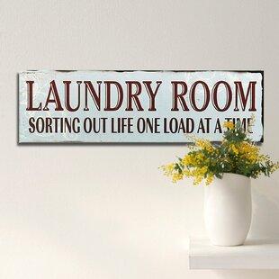 Vintage Laundry Room Signs | Wayfair