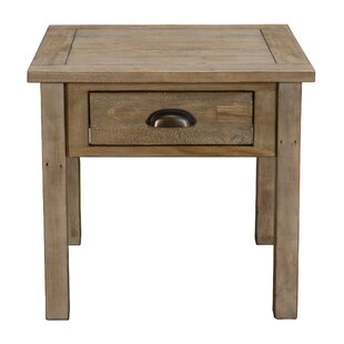 Emsworth Driftwood End Table by Highland Dunes