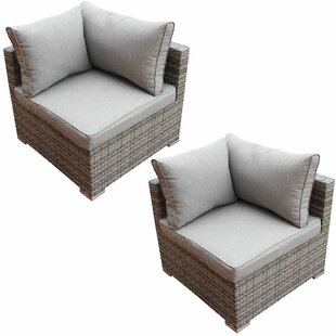 Bo Patio Chair with Cushion (Set of 2)