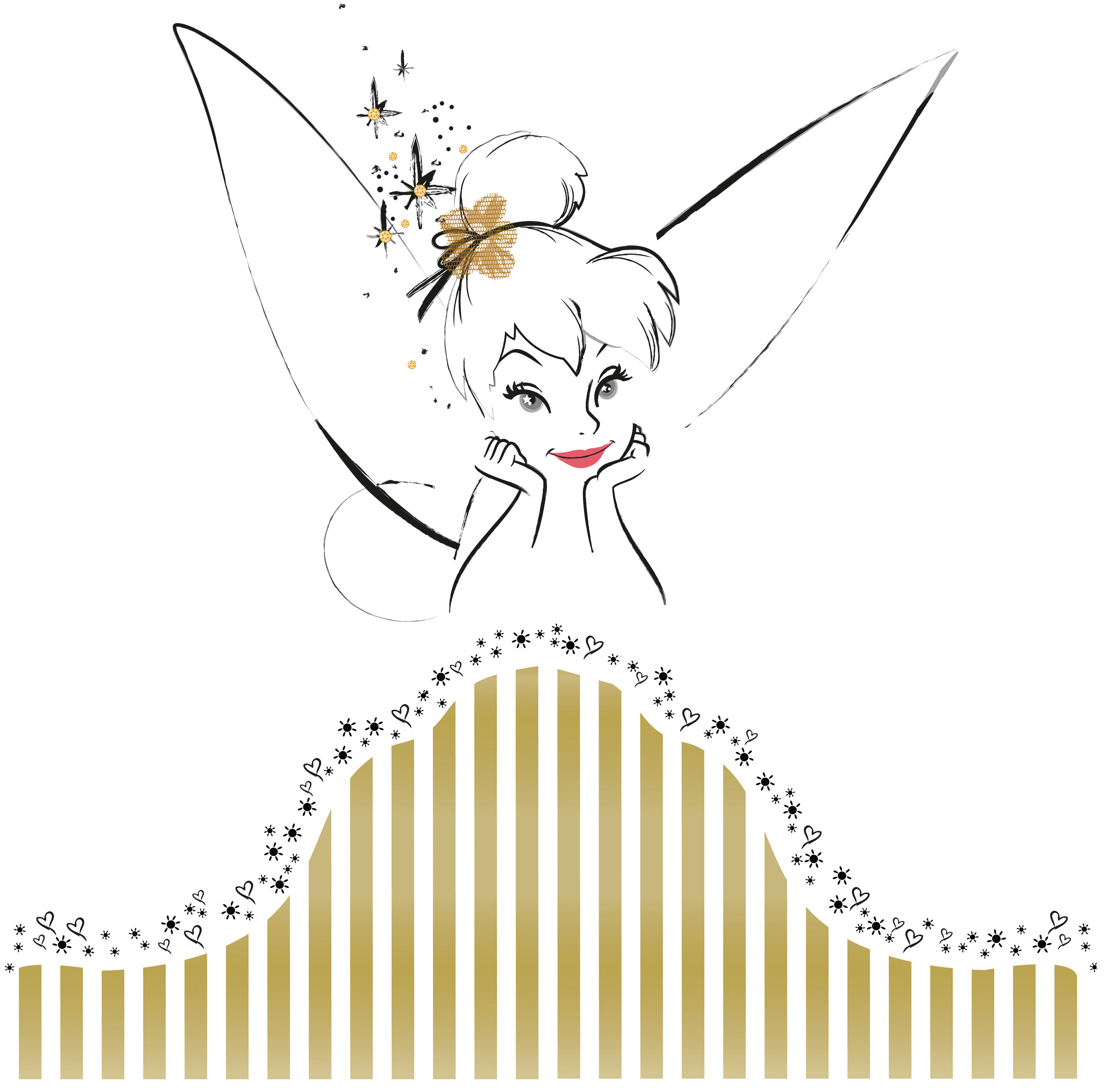 Room Mates Popular Characters Disney Fairies Tinkerbell Headboard Giant Wall Decal u0026 Reviews | Wayfair  sc 1 st  Wayfair & Room Mates Popular Characters Disney Fairies Tinkerbell Headboard ...