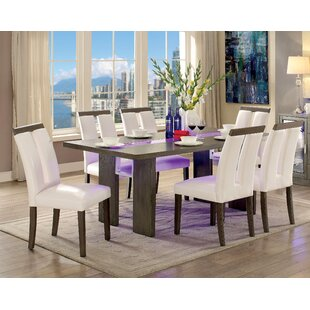 Travis 7 Piece Dining Set Latitude Run