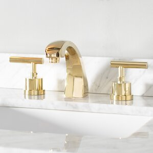 Manhattan Double Handle Widespread Bathroom Faucet With Brass Pop Up