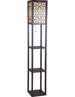 Price comparison Wooden Shelf 63 Column Floor Lamp By Sintechno