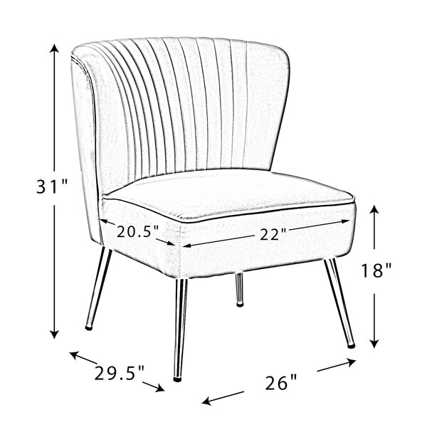 Alfredo 26'' Wide Tufted Velvet Side Chair