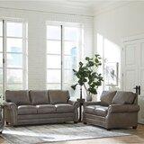 Pedigo 2 Piece Leather Sleeper Living Room Set by Canora Grey
