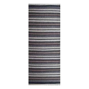 Bargain Cleland Hand-Woven Wool Charcoal White Area Rug By Breakwater Bay