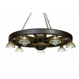 Read Reviews Linus 7-Light Wagon Wheel Chandelier By Millwood Pines