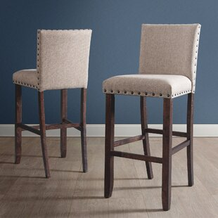Ismay Upholstered 30 Bar Stool (Set of 2) Three Posts