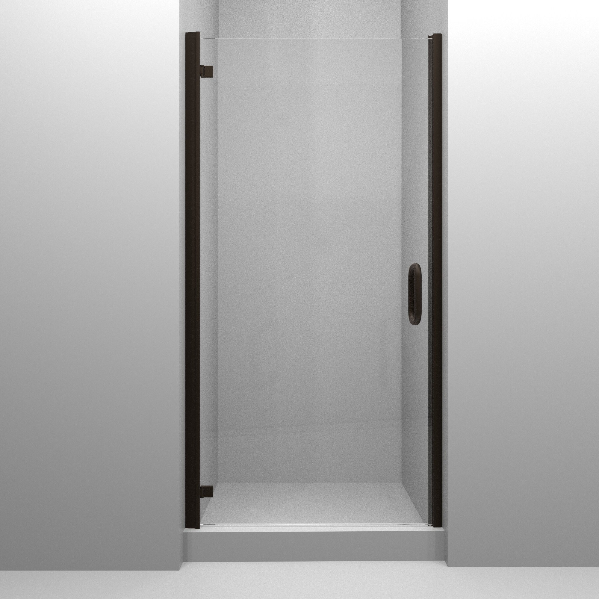 Mp Swinging 30 X 73 Hinged Semi Frameless Shower Door