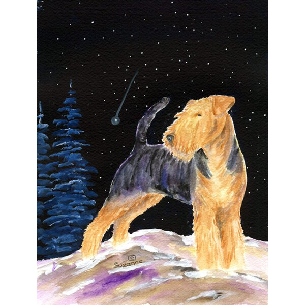Caroline S Treasures Starry Night Welsh Terrier 2 Sided Polyester 40 X 28 In House Flag Wayfair