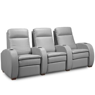Leather Home Theater Sofa (Row of 3) by Jaymar
