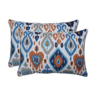 Albertus Azure Indoor/Outdoor Lumbar Pillow (Set of 2)
