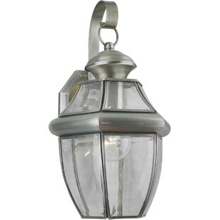 Inexpensive Derry 1-Light Outdoor Wall Lantern By Charlton Home