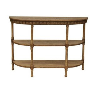 Petrarch Half-Moon Wooden Console Table