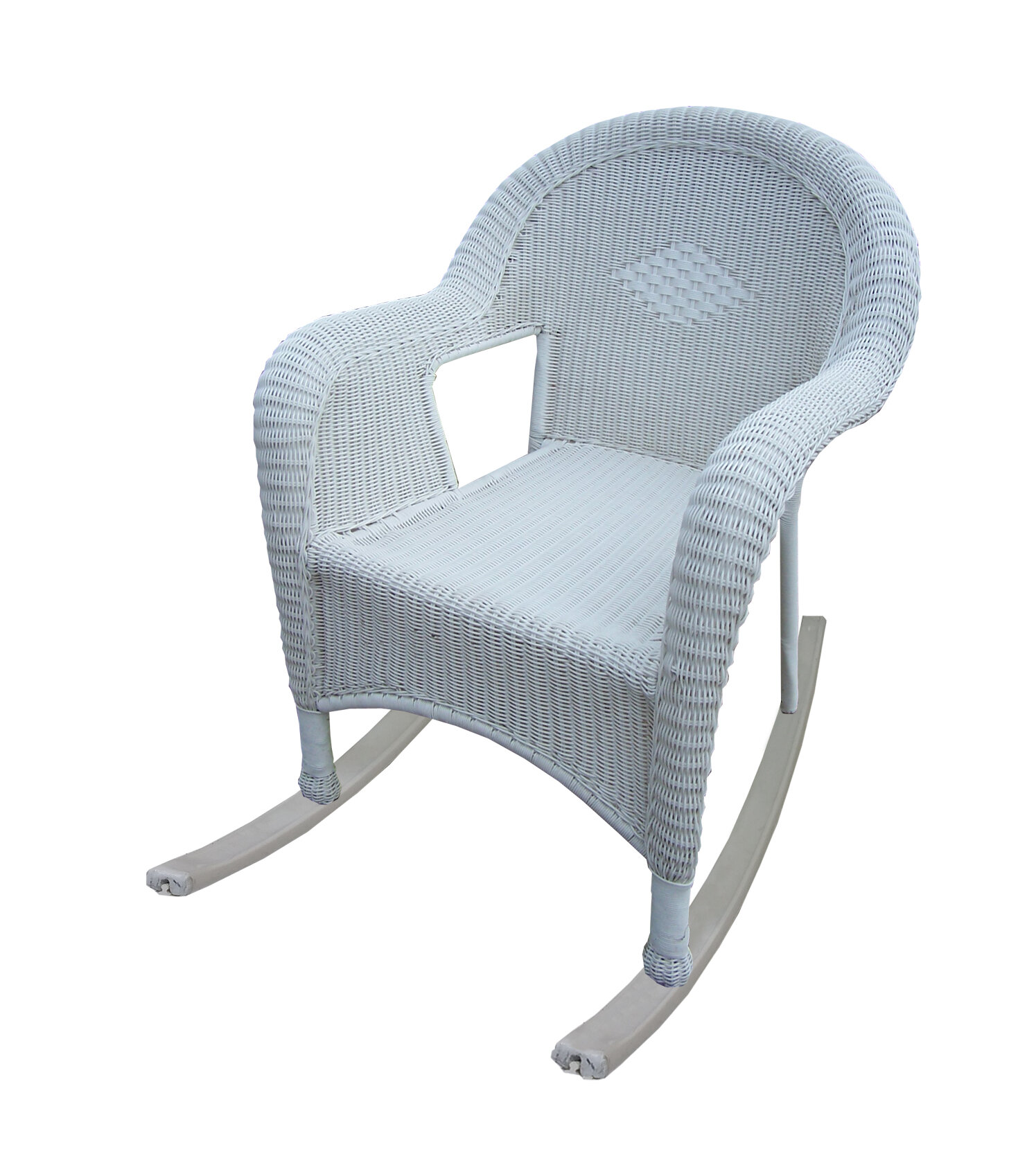 Oakland Living Resin Wicker Rocker | Wayfair