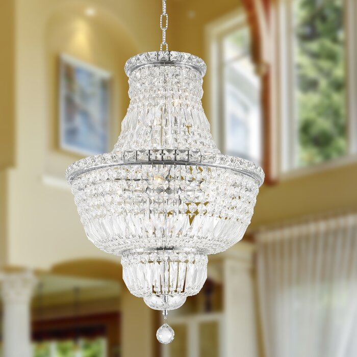 House of hampton carson glam 12 light empire chandelier reviews carson glam 12 light empire chandelier aloadofball
