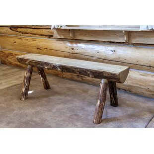 Tustin Half Log Wood Bench