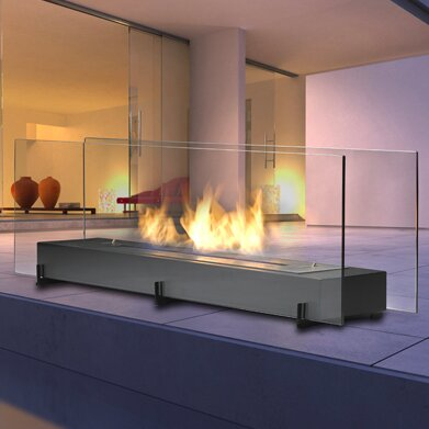 eco feu vision 2 bio ethanol tabletop fireplace wayfair rh wayfair com tabletop fireplace heater indoor tabletop fireplace