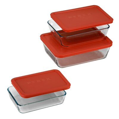 6 Piece Bakeware Set Pyrex