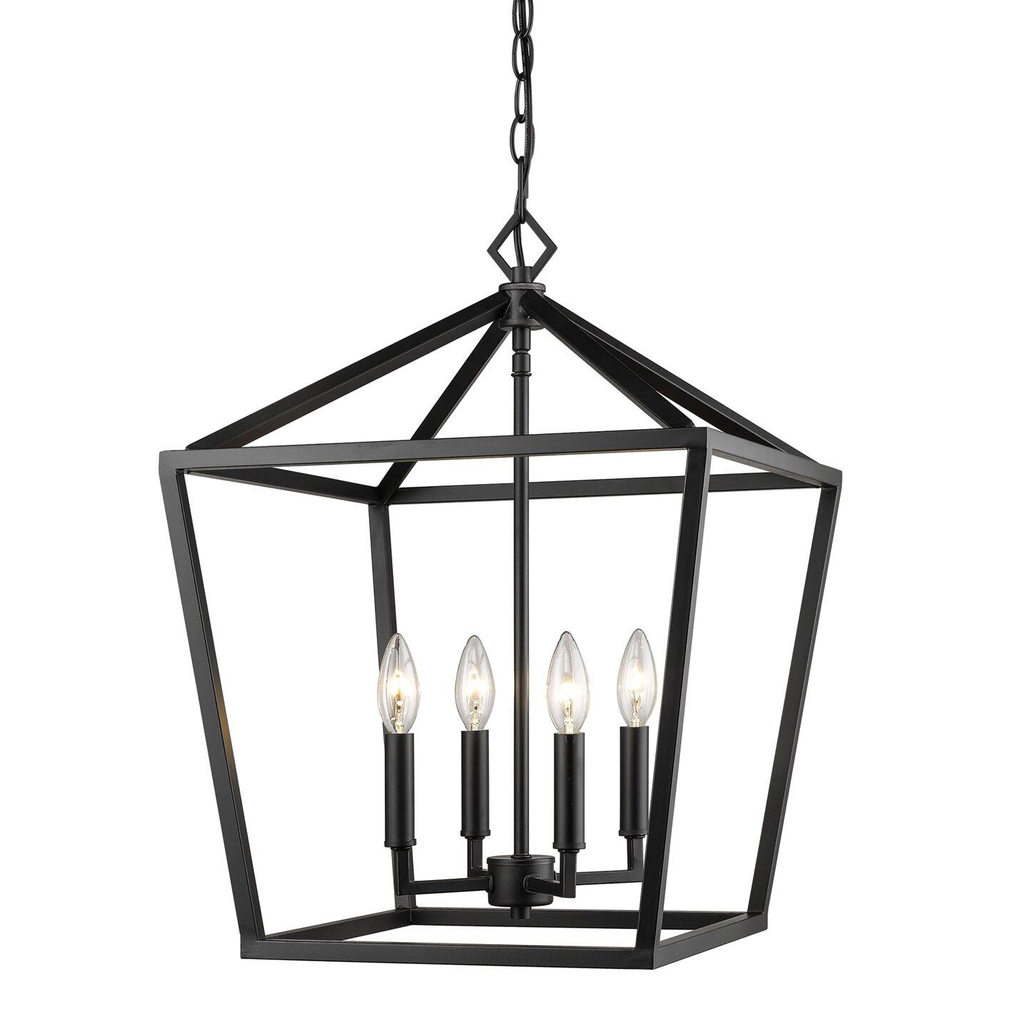 Poisson 4 Light Lantern Chandelier