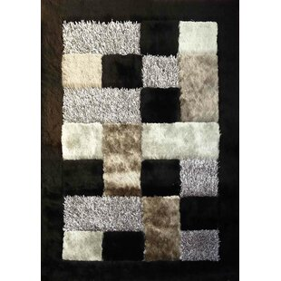 Great Price Shaggy Viscose Design Black Area Rug ByRug Factory Plus