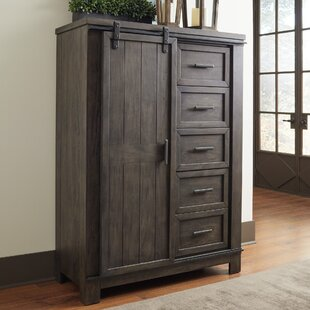 Durbin Sliding Door 5 Drawer Gentleman's Chest