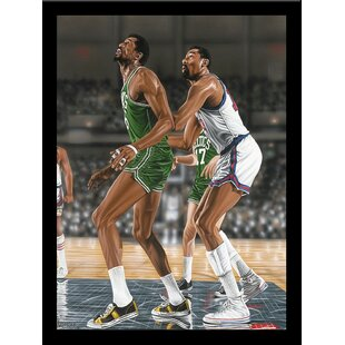 'Wilt Chamberlin and Bill Russel' Print Poster by Darryl Vlasak Framed Memorabilia by Buy Art For Less