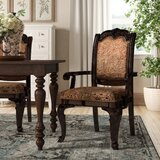 Mullett Upholstered Arm chair in Brown Cherry (Set of 2) by Astoria Grand