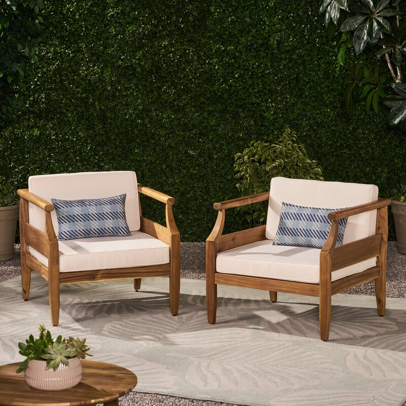 Highland Dunes Outdoor Patio Chair With Cushions Reviews