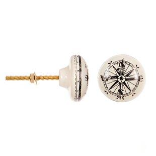 Ceramic Compass Round Knob