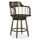 American Life-Crafted Counter Adjustable Height Swivel Bar Stool by Hooker Furniture