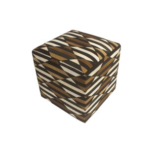 Golub Geometric Hide Pouf by Wrought Studio