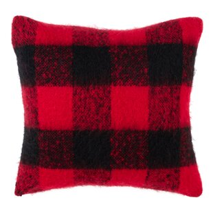 Zelaya Mohair Plaid Throw Pillow
