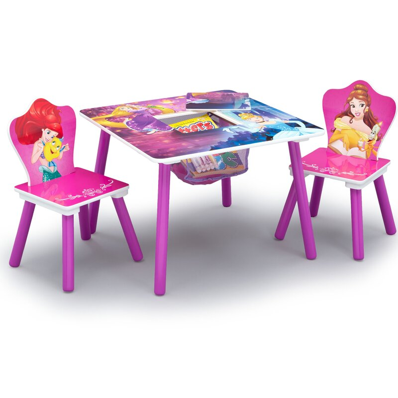 Disney Princess Arts and Crafts Table and Chair Set  sc 1 st  Wayfair & Delta Children Disney Princess Arts and Crafts Table and Chair Set ...
