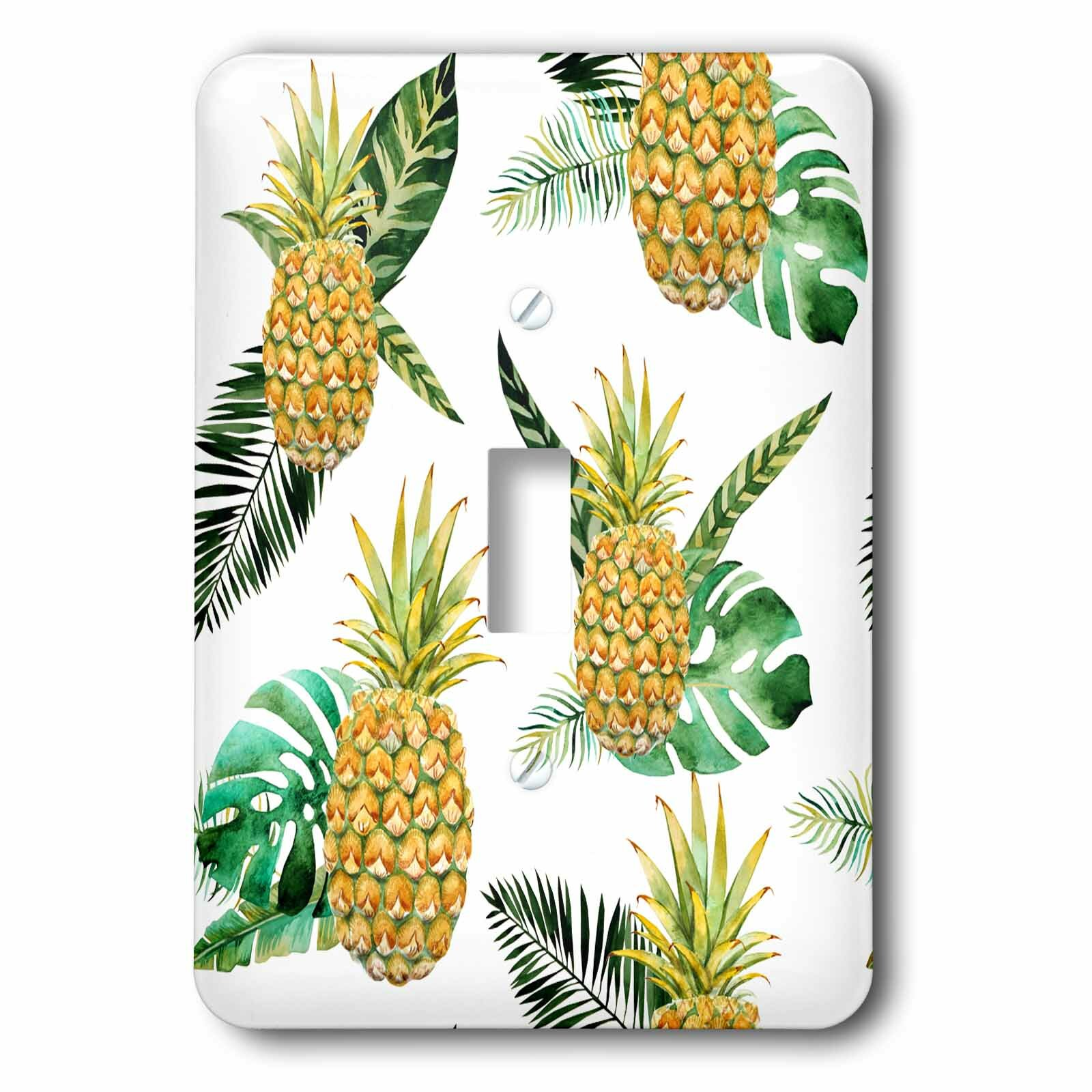 3drose Tropical Pineapple 1 Gang Toggle Light Switch Wall Plate Wayfair