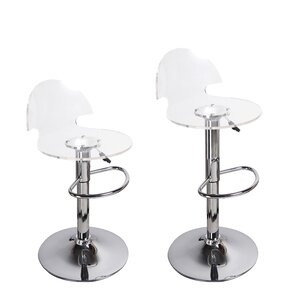 Stanhope Contemporary Adjustable Height Swivel Bar Stool (Set of 2) by Wade Logan