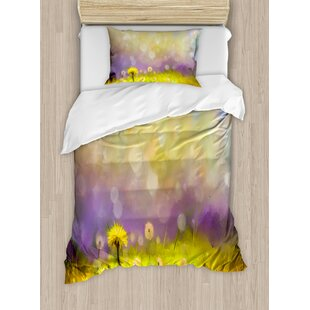 Watercolor Flower Home Pastel Floral Lawn And Hazy Shallow Depth Of Field  Design Duvet Set