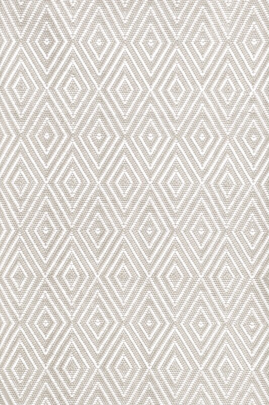 Dash and Albert Rugs Diamond Platinum White Indoor/Outdoor Rug ...
