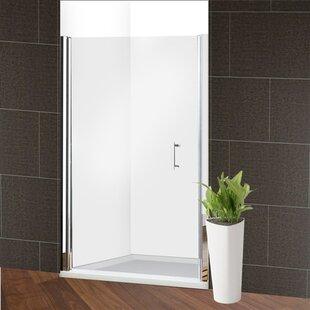Glass 48 x 72 Pivot Frameless Shower Door by ALEKO