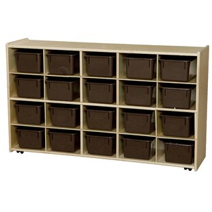 Price Check Contender 20 Compartment Cubby with Trays By Wood Designs