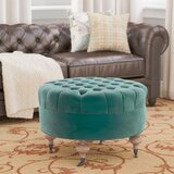27.2 Wide Ronni Tufted Round Cocktail Ottoman by Charlton Home®