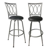 Cataldo Adjustable Height Swivel Bar Stool (Set of 2) by Fleur De Lis Living