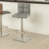 Clintwood Adjustable Height Swivel Bar Stool by Wrought Studio™