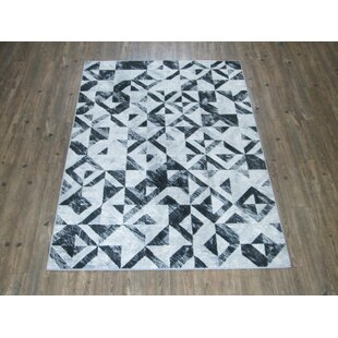 Price Check Industry Gray/Black Area Rug By Ivy Bronx
