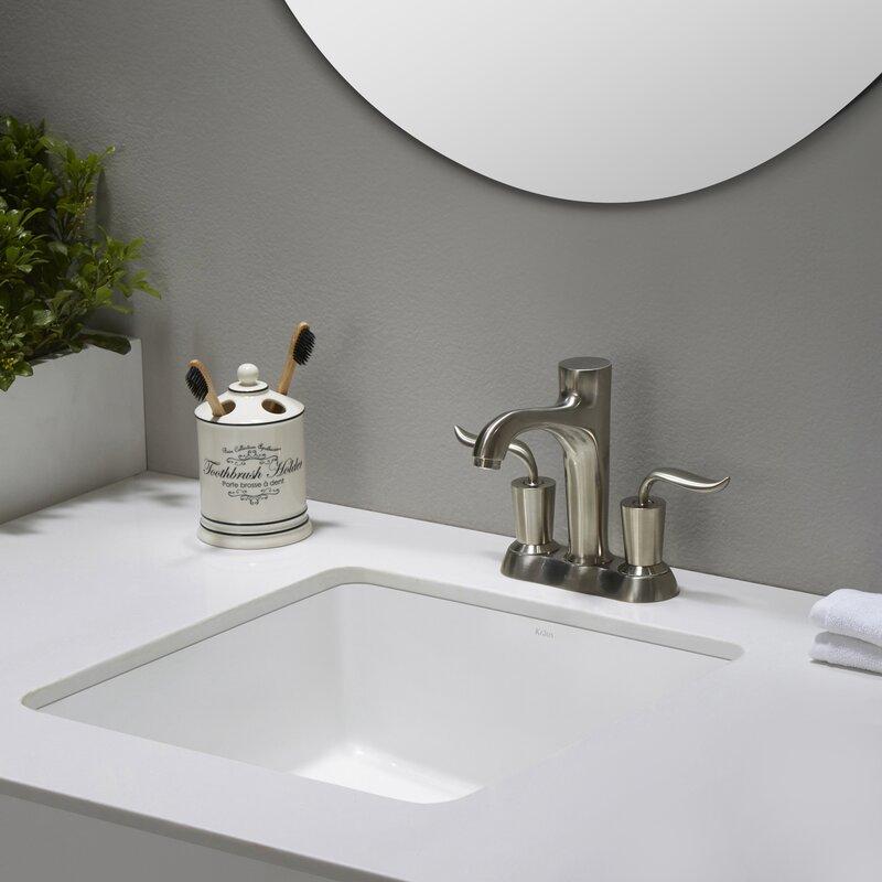 Elavo Ceramic Square Undermount Bathroom Sink With Overflow