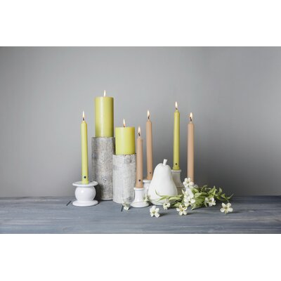 "Classic Unscented Taper Candle Set Colonial Candle Color: Indigo, Size: 8"" H x 1"" W x 1"" D"