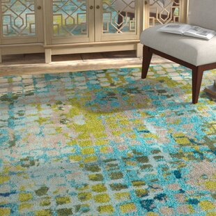 Piotrowski Blue/Green Area Rug by Bungalow Rose