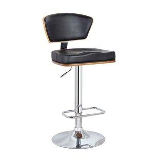 Sarthe Adjustable Height Bar Stool by Orren Ellis